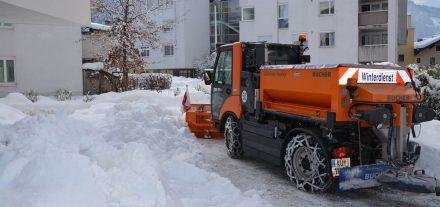 Schneeräumung Jänner 2019.Foto Veronika Spielbichler