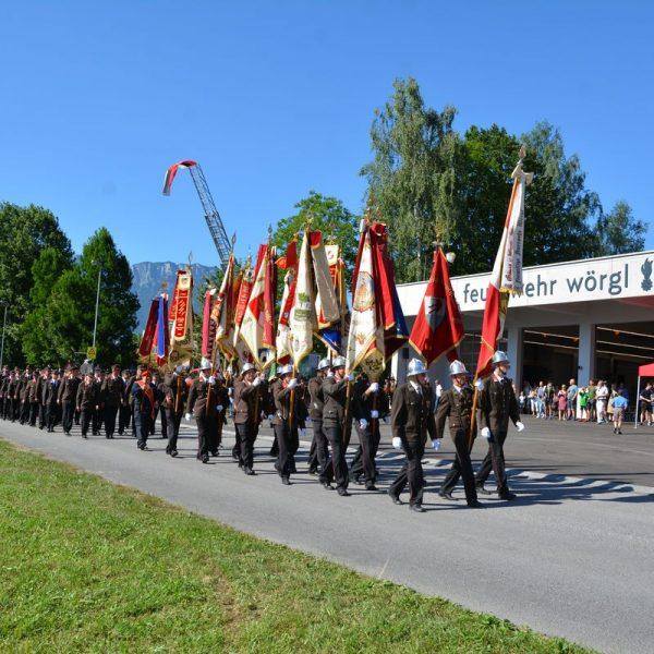 Einweihung des neuen Wörgler Feuerwehrhauses am 29.6.2019. Foto: Veronika Spielbichler
