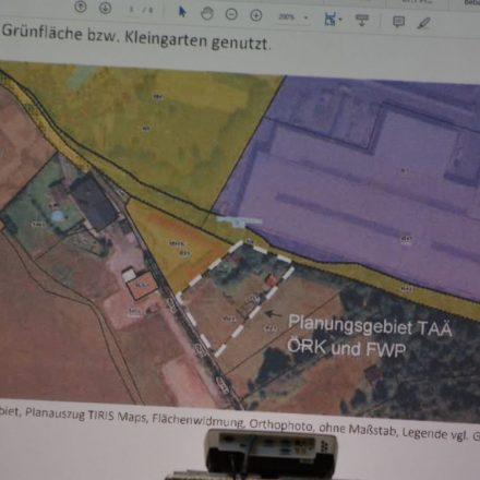 In Wörgl-Lahntal ist eine Tierpension geplant. Foto: Orthophoto TIRIS Maps