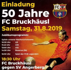 Der FC Bruckhäusl feiert sein 50-Jahr-Jubiläum mit einem Fußballfest. Foto: Plakat FC Bruckhäusl
