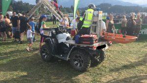 Geländetaugliches Einsatzfahrzeug: Das Quad mit Trage. Foto: Samariterbund Tirol