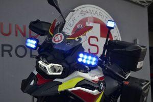 Die Motorradstaffel ist dieses Wochenende bei Sportveranstaltungen im Einsatz. Foto: Samariterbund Tirol