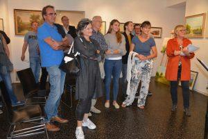 Bilder-Versteigerung von ARTirol zugunsten der Wörgler Kirchenrenovierung am 13.9.2019. Foto: Veronika Spielbichler