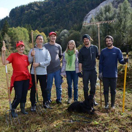 Feuchtbiotop Filz - Arbeitseinsatz Biotop-Pflege Oktober 2019. Foto: Veronika Spielbichler