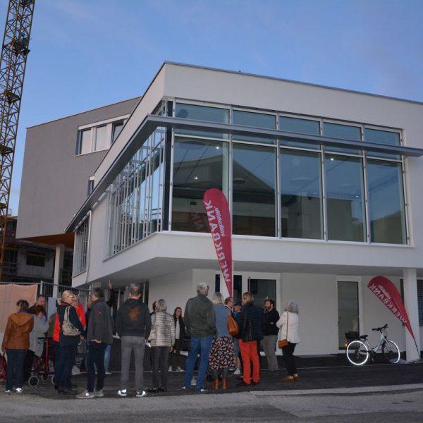 Lokalaugenschein im neuen Haus der Musik beim Wörgler Kulturstammtisch am 1.10.2019. Foto: Veronika Spielbichler