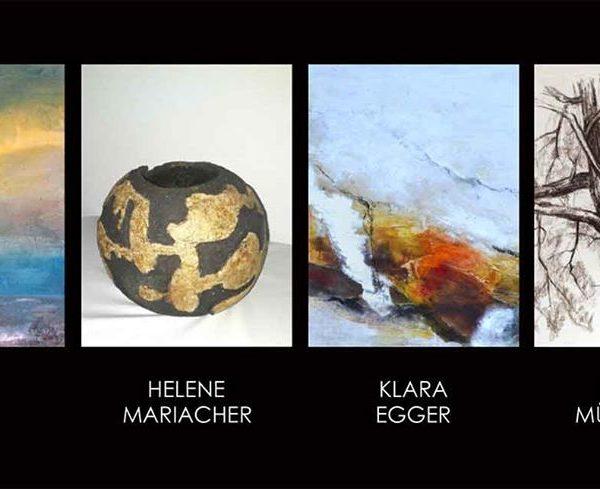 Vier Künstlerinnen präsentieren sich bei der Ausstellung in der Galerie am Polylog in Wörgl von 29.11.-1.12.2019.