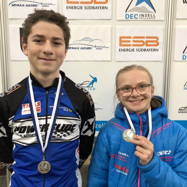 Alexander Farthofer und Lina Oberschneider. Foto: SC Lattella Wörgl