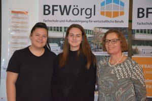 """Aktionstag """"16 Tage gegen Gewalt an Frauen und Mädchen"""" an der BFW+AL Wörgl am 27. November 2019. Foto: Veronika Spielbichler"""