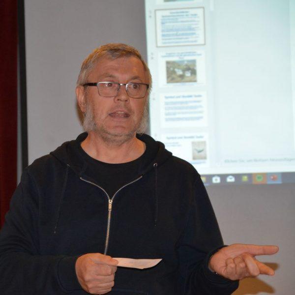 Vortrag von Hans Lutsch über Stadttauben am 18.11.2019. Foto: Veronika Spielbichler