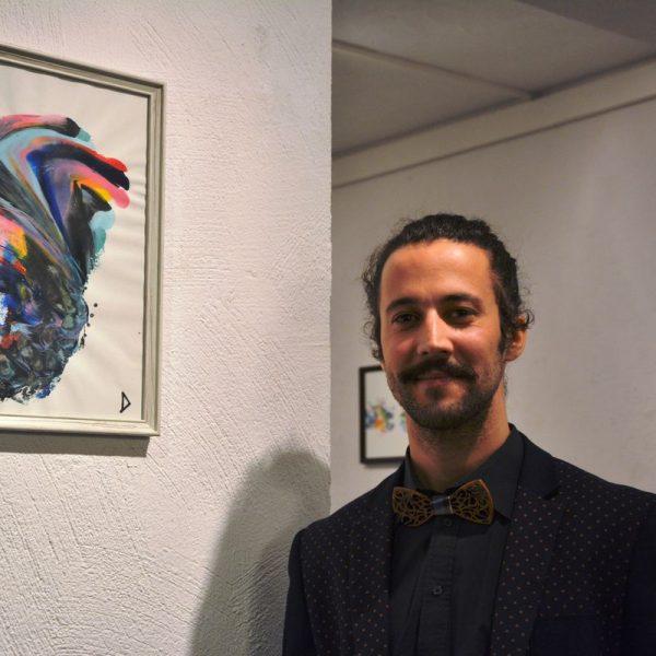 """Ausstellung """"Herzblut"""" von David Shehata in der Galerie am Polylog 19.12.2019. Foto: Veronika Spielbichler"""