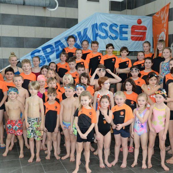 Gruppenbild der NachwuchsschwimmerInnen Foto: SC Wörgl, Franz Stifter