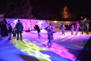 Kinder-Eisdisco am Kunsteislaufplatz in der Zone Wörgl im Januar 2020. Foto: Veronika Spielbichler