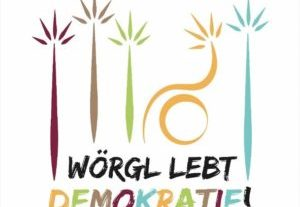 Logo Demokratie-Woche. Grafik: Komm!unity