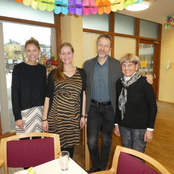 Von links: Mag. Theresa Kröll, Ingrid Egger, Harald Ringer (Leiter SH Wörgl), Maria Steiner (Obfrau Gesundheits- Sozialsprengel Wörgl). Foto: Wilhelm Maier