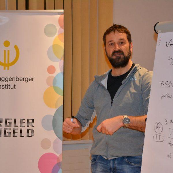 """Im Februar lautete das Thema des CryptoCircles """"Wie funktionieren Kryptowährungen""""? Foto: Veronika Spielbichler"""