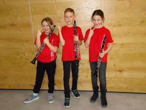 "Das Trio ""Bridgehouse Clarinets"". Foto: LMS Wörgl"