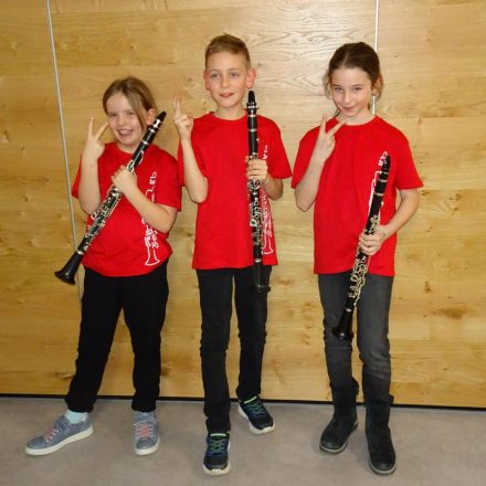 "Das Trio ""Bridgehouse Clarinets"". Foto: LMS Wörgl"