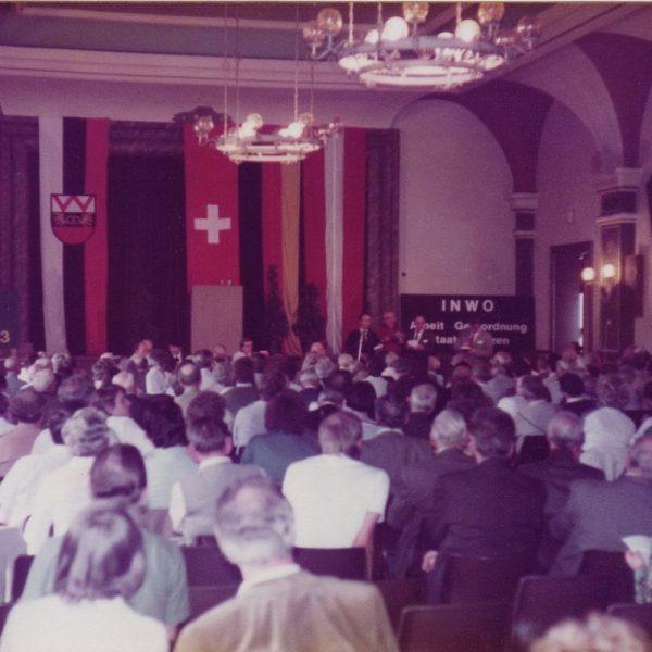 INWO-Kongress 12.-15. Mai 1983 in Wörgl. Foto: Unterguggenberger Institut Archiv/Lia Rigler