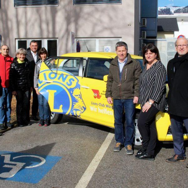 Übergabe Autospende vom LionsClub Wörgl an den Gesundheits- und Sozialsprengel Wörgl Februar 2020. Foto: Wilhelm Maier