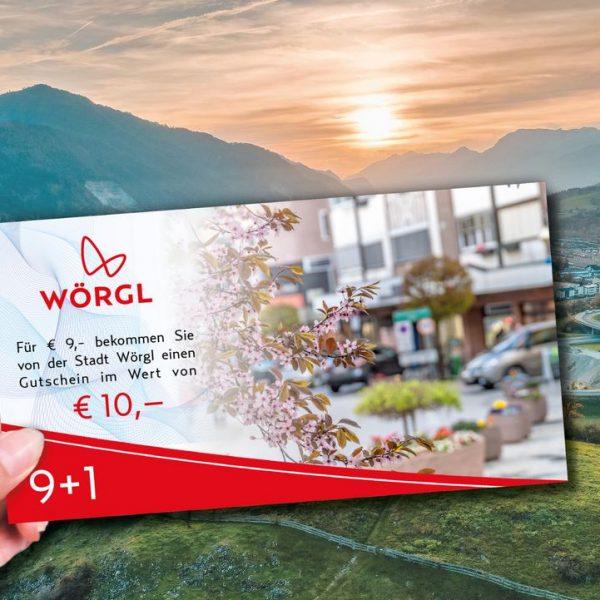 9+1 Gutscheinaktion der Stadtgemeinde Wörgl. Foto: Stadtgemeinde Wörgl