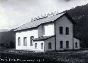 Kraftwerk Pinnersdorf 1913. Foto: Gerd Tappeiner