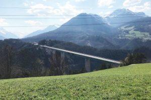 Ostern 2020: Wenig Verkehr aufgrund der Corona-Pandemie auf der Europabrücke. © Land Tirol