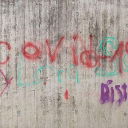 Covid19 Graffiti in Wörgl April 2020. Foto: Veronika Spielbichler