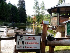 Fischteich Lärchenteich in Hopfgarten Mai 2020. Foto: Veronika Spielbichler