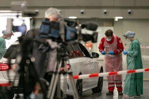 Medientermin an der Sceening-Straße in der Innsbrucker Olympiaworld. © Land Tirol/Kaser