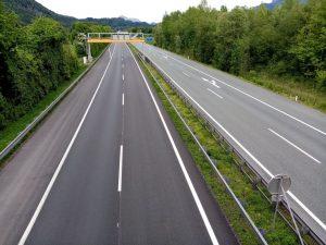 Autobahn bei Kufstein im Mai 2020. Foto: Veronika Spielbichler