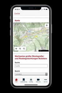 Es stehen eine Tirolkarte und unterschiedliche Suchkriterien zur Verfügung. © Land Tirol/West