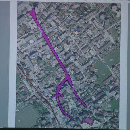 Die violett markierten Flächen sind 2020 als Adventmarkt in Wörgl ausgewiesen. Foto: Spielbichler