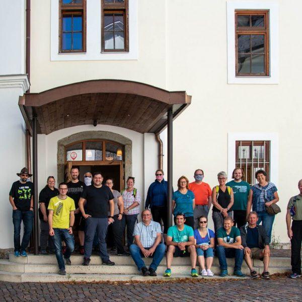 20 Jahre Geocaching – zum Jubiläum organisierte der Wörgler Christian Aufschnaiter am 12. Juli 2020 eine Veranstaltung in Wörgl mit Stadtrundgang und Heimatmuseumsbesuch. Foto: Christian Aufschnaiter