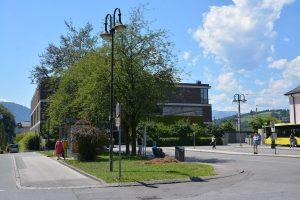 Der gefällte Baum am Grünstreifen an der Poststraße war morsch - er wird durch eine Neupflanzung ersetzt. Foto: Spielbichler