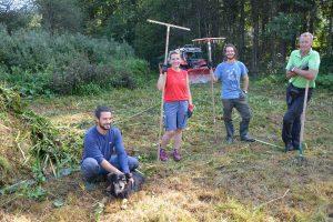 Feuchtbiotop Filz - Arbeitseinsatz Biotop-Pflege September 2020. Foto: Veronika Spielbichler