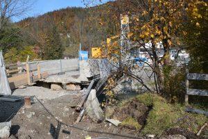 Sanierung Zehenthoferbrücke in Bruckhäusl Oktober 2020. Foto: Veronika Spielbichler