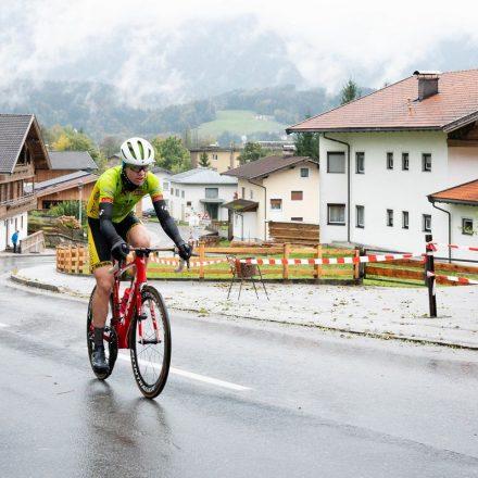 Bewies einmal mehr, dass er zu den besten Nachwuchsfahrern Österreichs zählt: Luca Oberlechner bei seiner Fahrt zur Silbermedaille. Foto: Radclub Wörgl