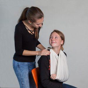 Auch eine Erste-Hilfe-Ausbildung ist Teil des Lernstoffes. Foto: BFWörgl