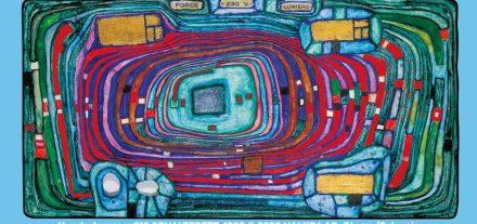 """Künstler und Umweltschützer Friedensreich Hundertwasser liefert das Titelbild zur Klimabündnis-Veranstaltung """"Tiroler Klimaforum"""" zum Thema """"Netzwerke für das Klima"""" am 20. November von 14 bis 17 Uhr. Copyright: Hundertwasser 816 SCHALTBRETT, 1980 © 2020 NAMIDA AG, Glarus/Schweiz"""