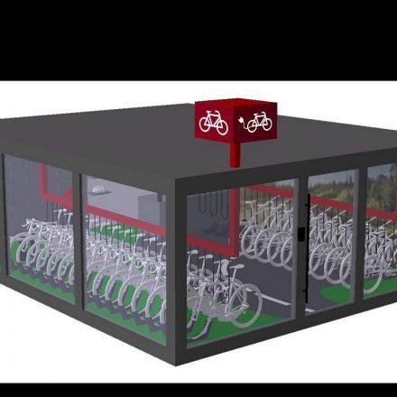 Visualisierung Bikeverleihboxen. © Land Tirol