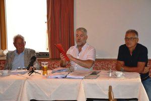 Pressekonferenz Hochwasserschutz-Bürgerinitiativen Juli 2020. Foto: Veronika Spielbichler