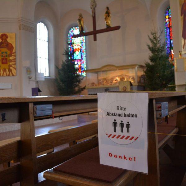 Wörgler Pfarrkirche Dezember 2020. Foto: Veronika Spielbichler