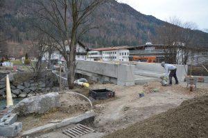 Sanierung Zehenthoferbrücke in Bruckhäusl Dezember 2020. Foto: Veronika Spielbichler