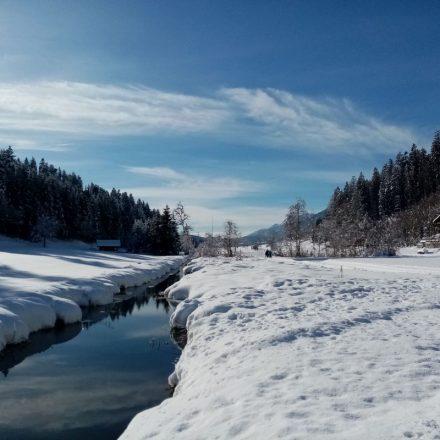 Wanderweg Moosbachtal Mariastein Angerberg Jänner 2021. Foto: Veronika Spielbichler