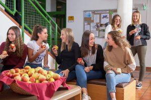 """Obst zur freien Entnahme in der Pause ist Beitrag zur """"Gesunden Schule"""". Foto: BFWörgl"""