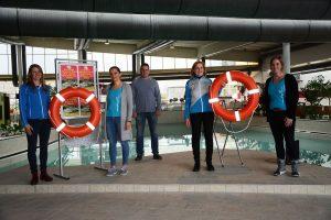 Pressekonferenz im WAVE Wörgler Wasserwelt am 16.2.2021. Foto: Veronika Spielbichler