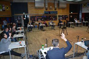 Wörgler Gemeinderat am 18.2.2021. Foto: Veronika Spielbichler