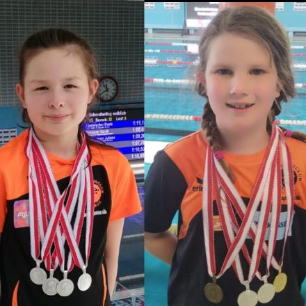 Lotta Kaindl und Ann-Lea Knepper holten Medaillen bei den Tiroler Meisterschaften. Foto: SC Wörgl