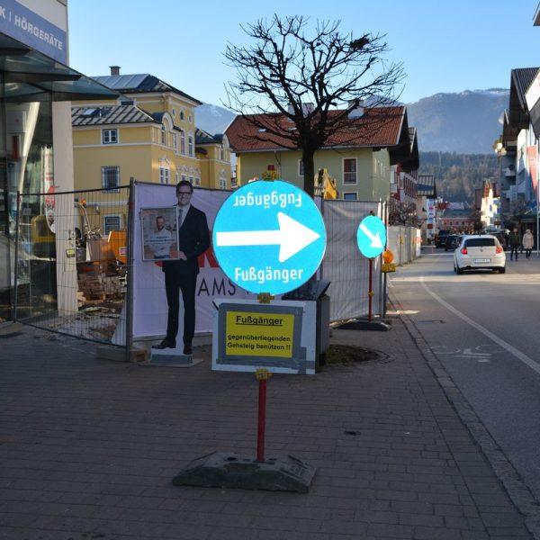 Bauprojekt Ärztehaus Wörgler Bahnhofstraße März 2021. Foto: Veronika Spielbichler