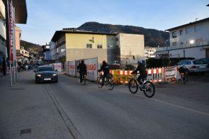 Baustelle Bahnhofstraße Ärztehaus März 2021. Foto: Veronika Spielbichler